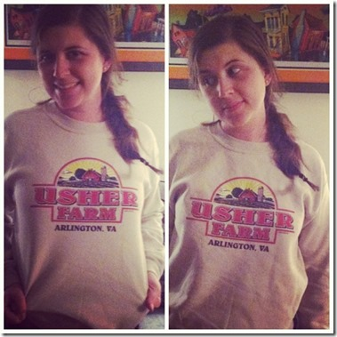 usher farm sweatshirt