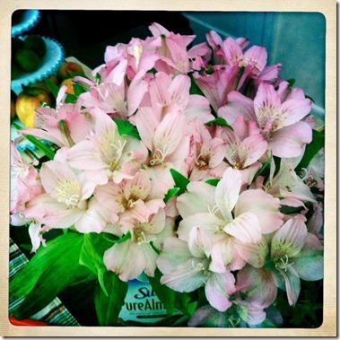 flowers in silk
