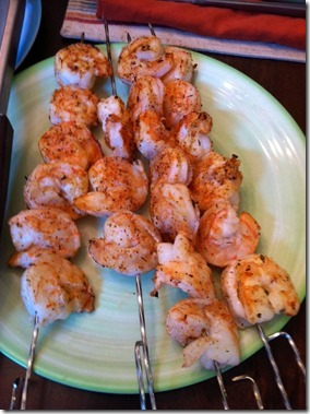 shrimp on a skewer