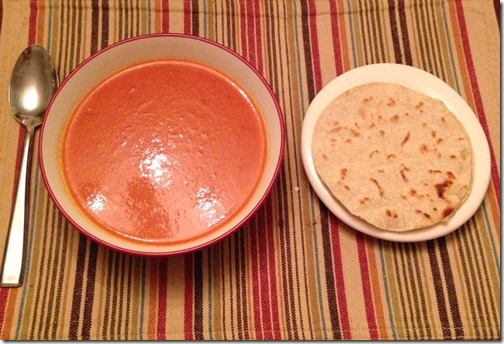 soup and quesadilla